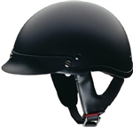 Flat Black Motorcycle Half Helmet - Smallest DOT