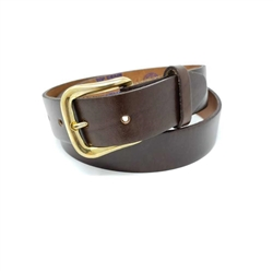 Brown Oil Tan Genuine Leather Belt: Uniform USA Cowhide