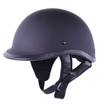 Motorcycle Helmets for Men - Flat Black Polo