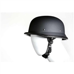 Matte Black German Novelty Motorcycle Helmet