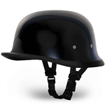 Novelty Motorcycle Helmets - Gloss Black German