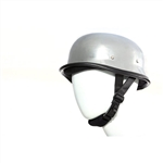 Chrome German Style Novelty Motorcycle Helmet