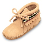 Infant Minnetonka Moccasins - Tan Suede Bootie