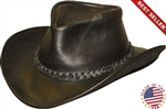 Henschel Leather Cowboy Hat - U-Shape-It Black