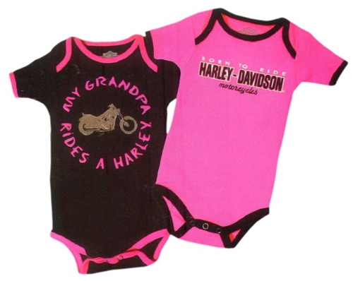 Girls Harley Davidson Baby Clothes Quot My Grandpa Rides A