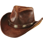 8bb6821e Leather Cowboy Hats and Outdoor Fishing Hats - Leather Bound Online