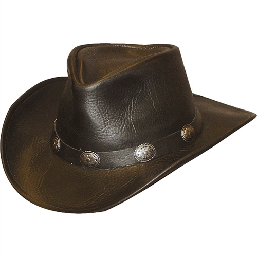 80118115a38 Black Leather Cowboy Hats  Henschel USA Walker Style