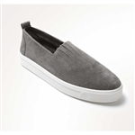 Minnetonka Grey Suede Slip-On Shoes