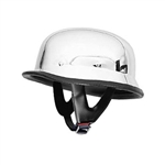 Chrome German Motorcycle Helmet - DOT Approved