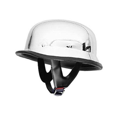 Motorcycle Helmets Dot >> Sale Chrome German Motorcycle Helmet Dot Approved Leather