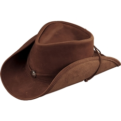 Henschel Lightweight Brown Leather Cowboy Hats