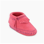 Minnetonka Infant Moccasins - Pink Riley Bootie