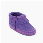 Minnetonka Infant Moccasins - Purple Fringe Bootie