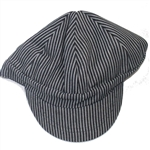 Mens Striped Welders Engineering Cap: Pinstripe Blue & White
