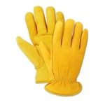 Premium Deerskin Yellow Leather Gloves