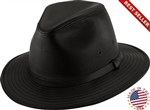 Henschel Black Safari Mens Leather Hat