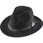 Men's Leather Hats - Henschel Black Safari Hat