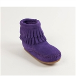 Purple Minnetonka Infant Moccasins - Fringe Bootie