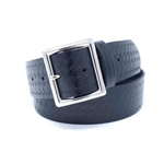 Basket Weave Wide Leather Belt: Uniform Garrison
