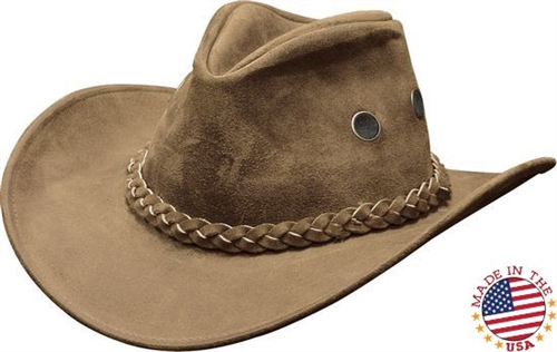 Premium Hiker Tan Leather Cowboy Hats e6a85924105e