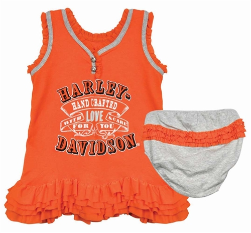 Harley Davidson Infant Clothes Girls Dress Set Leather Bound Online