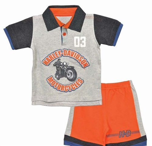 eb67a115 Harley-Davidson Baby Boy Outfit - Shirt & Shorts · View Larger Photo ...