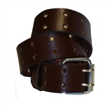 Genuine Brown Leather Belt: Oil Tan