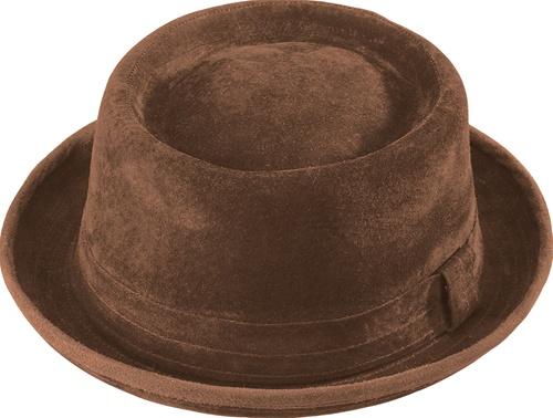 1dc086b0 Porkpie Hat - Brown Suede Leather - Henschel - Leather Bound Online