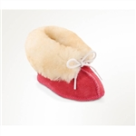 Infant Minnetonka Moccasin Pink Sheepskin Boots