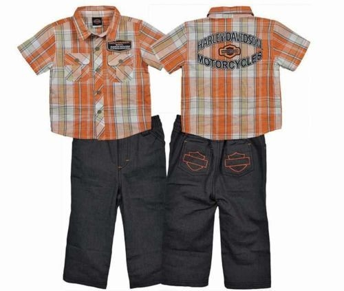 Harley Davidson Toddler Boy Outfit Biker Style Leather