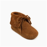 Minnetonka Infant Moccasins - Brown Suede Fringe Bootie