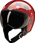 Women's Motorcycle Helmets: Red Lady Bug