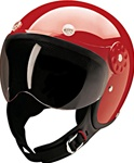 Open Face Red Motorcycle Helmet: DOT Approved