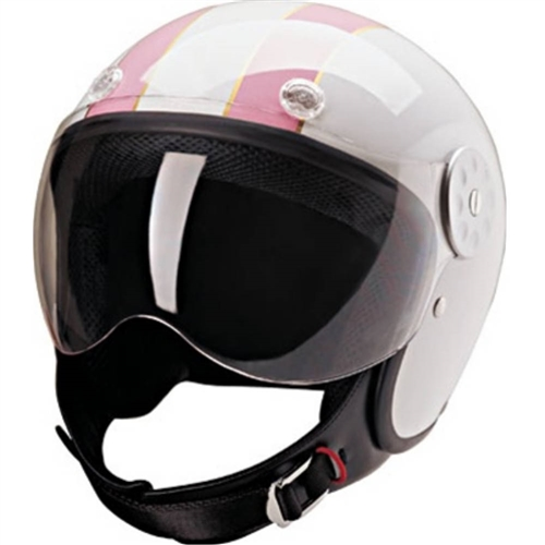 Ladies Motorcycle Helmets Free Shipping Hci 15 White Pink Open Face
