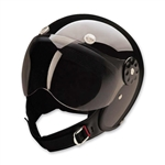 Open Face Motorcycle Helmets: DOT Approved Gloss Black