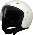 Open Face Motorcycle Helmets: DOT Approved White