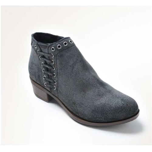 Minnetonka Vintage Charcoal Suede Boots