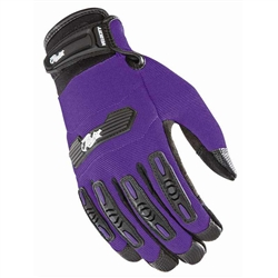 Joe Rocket Womens Motorcycle Gloves - Purple Textile