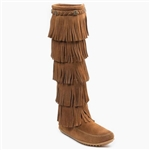 Minnetonka 5 Layer Suede Fringe Boots