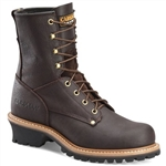 Carolina Work Boots - Brown Logger Lace-Up Steel Toe