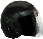 Black Motorcycle Helmets: Lightweight Open Face