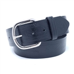 Western Black Leather Belts: Uniform USA Cowhide