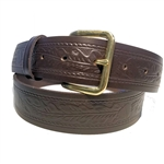 Western Brown Leather Belts: Uniform USA Cowhide