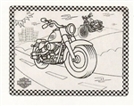 Kids Harley-Davidson Color Me Place Mat