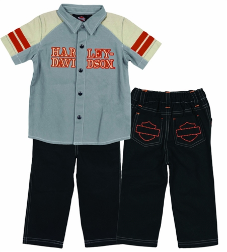 5c2fd761a Harley-Davidson Baby Clothes - Boys Outfit - Leather Bound Online
