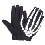Men's Skeleton Motorcycle Gloves: Mechanics Style