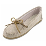 Natural Canvas Minnetonka Moccasins: Ladies
