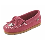 Girls Hello Kitty Pink Minnetonka Moccasins - Limited Edition