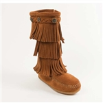 Girl's Minnetonka Moccasins - Triple Layer Fringe Boot