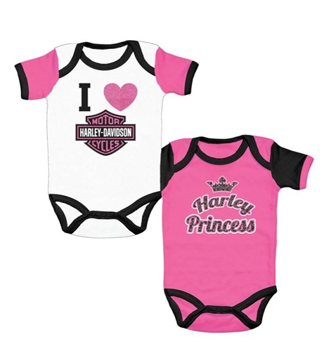 Harley-Davidson Baby Clothes: Princess 2-Pack - Leather Bound ...